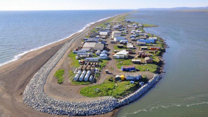 l'île de Kivalina de l'Alaska menacés de disparition