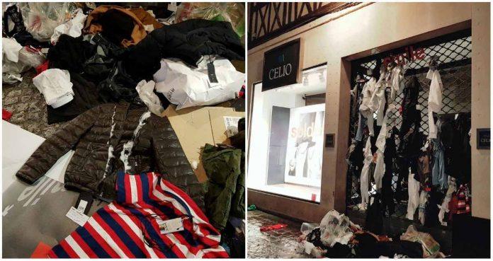 Celio fait polémique après avoir lacéré et jeté des vêtements (Photo)