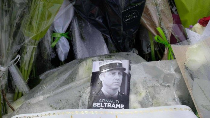 L'hommage de la femme d'Arnaud Beltrame