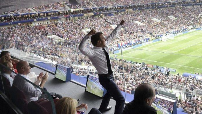 Emmanuel Macron dans tous ses états pendant la finale de la Coupe du monde