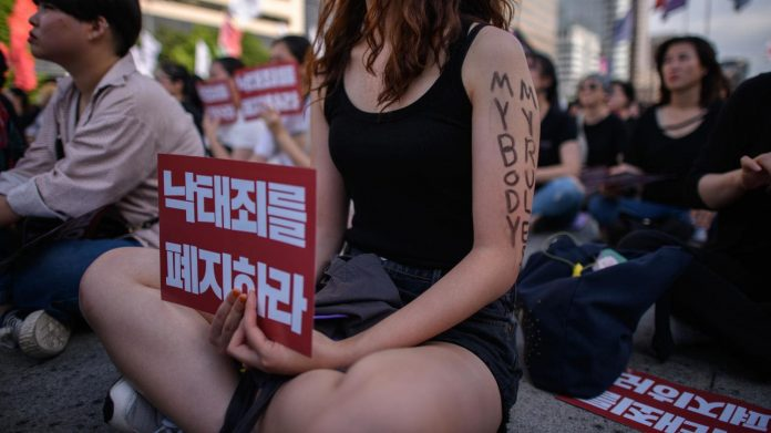Protestation des femmes A Séoul pour réveiller le gouvernement