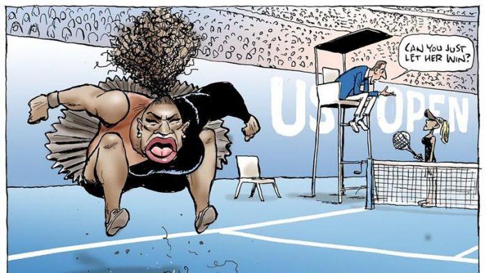 Le Caricature polémique de Serena Williams