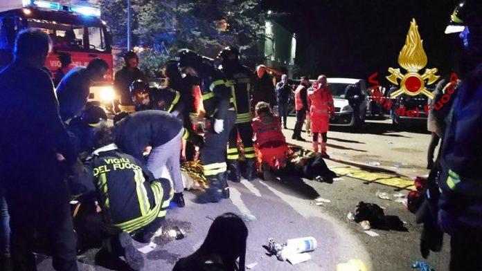 Italie: mouvement de foule dans une discothèque, 6 morts (Détail)