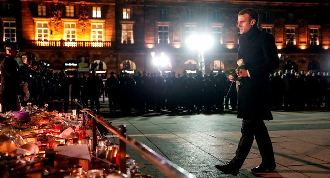 L'hommage de Macron aux victimes de l'attentat de Strasbourg