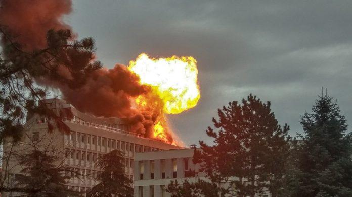Explosion à l'université Lyon: incendie sur le campus de la Doua (vidéo)