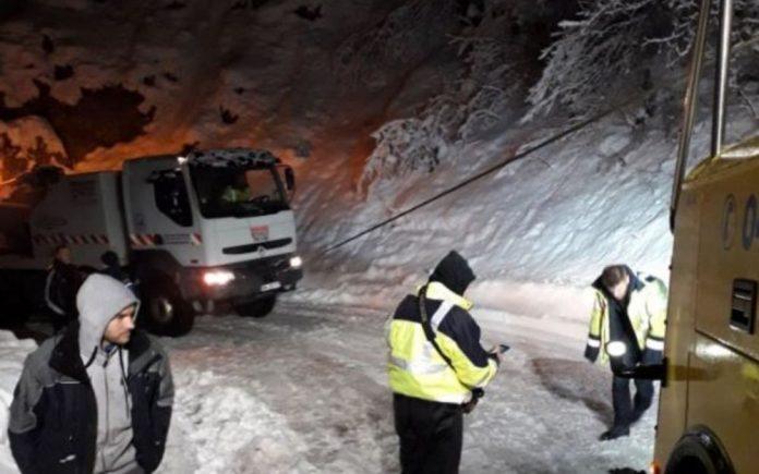 Savoie, 600 automobilistes bloqués par la neige