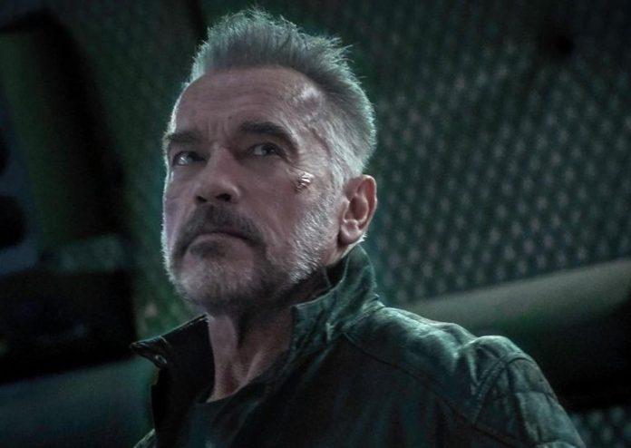Arnold Schwarzenegger présente Terminator Dark fate (détail)