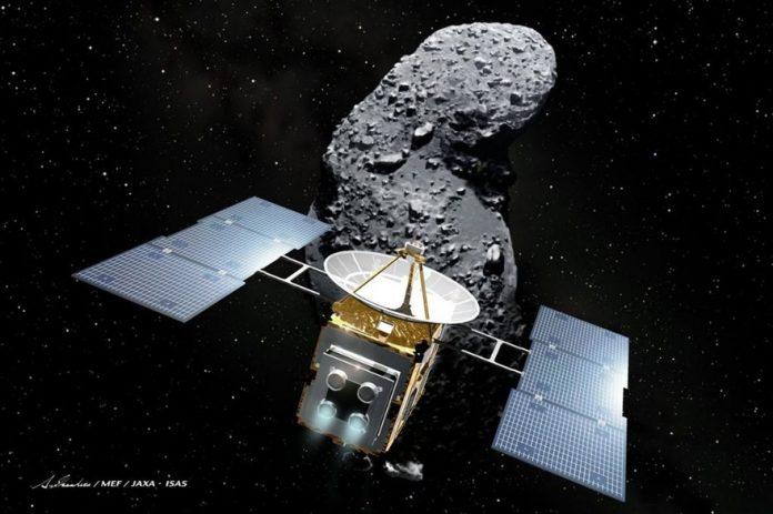 La Sonde japonaise bombarde l'astéroide Ryugu