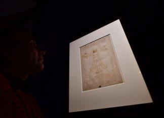 L'Homme de Vitruve sera exposé au Louvre (détail)