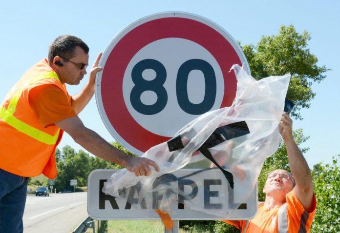Baisse de la vitesse à 80 km/h sur les routes nationales et départementales