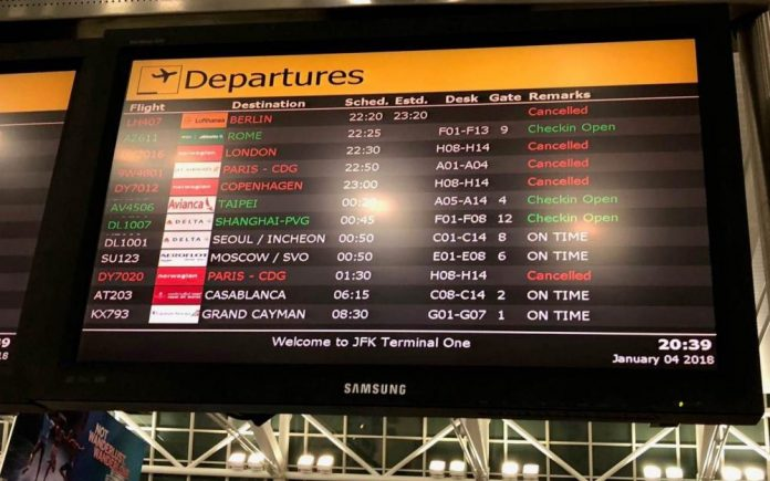 Des Français bloqués à l'aéroport JFK à cause de la météo