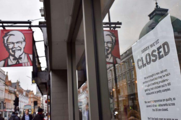 Royaume-Uni : Fermeture de KFC, faute de livraison de poulet