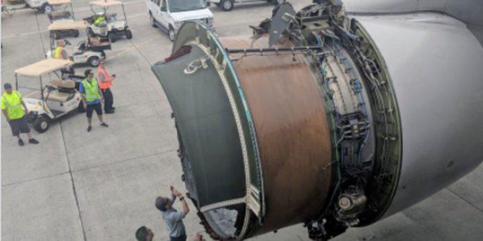 Un avion perd son réacteur en plein vol