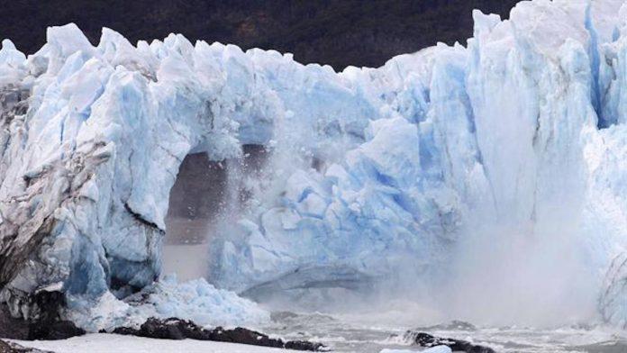 Rupture de l'arche glacier Perito Moreno