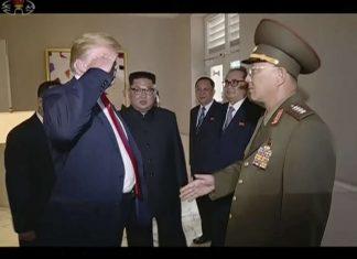 Le Salut de Donald Trump au général nord-coréen