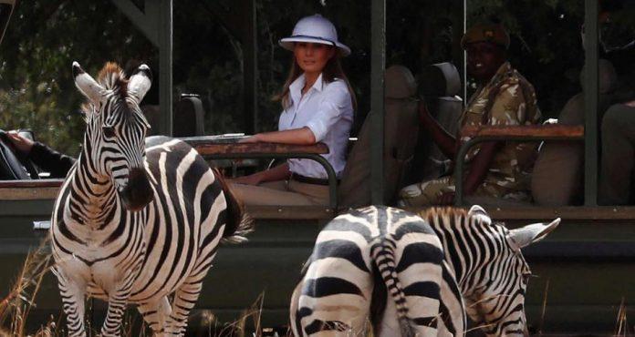 Melania Trump en casque colonial (Photo)
