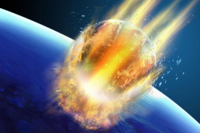 Impact d'astéroïde qui pourrait percuter la Terre en 2027 (NASA)
