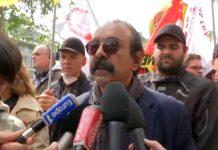 Philippe Martinez brièvement exfiltré de la manifestation du 1er-Mai (Vidéo)
