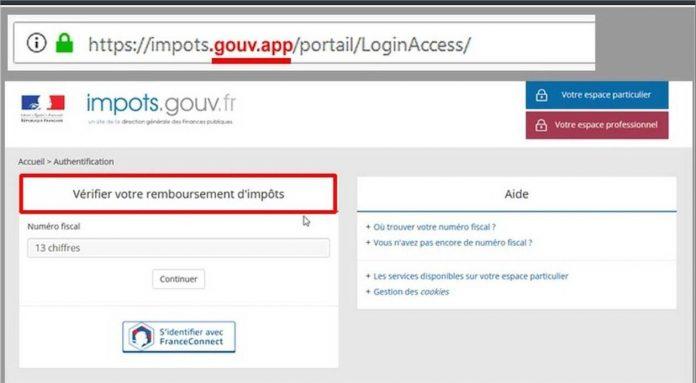 Arnaque: un faux site internet des impôts (DGFIP)
