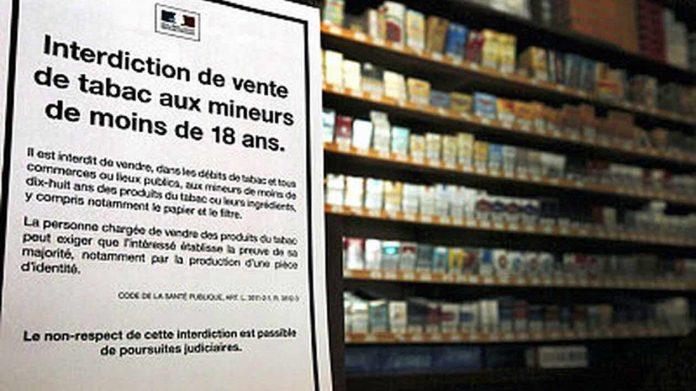 L'interdiction de vente de tabac aux mineurs n'est pas respectée en France