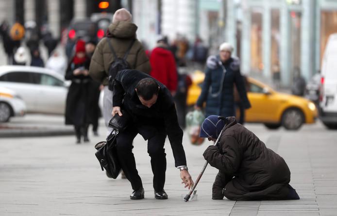 Amende pour avoir donné l'aumône à une mendiante (détail)