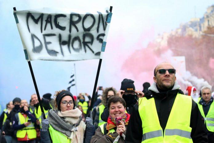 Emmanuel Macron sur l'anniversaire des Gilets jaunes (détail)