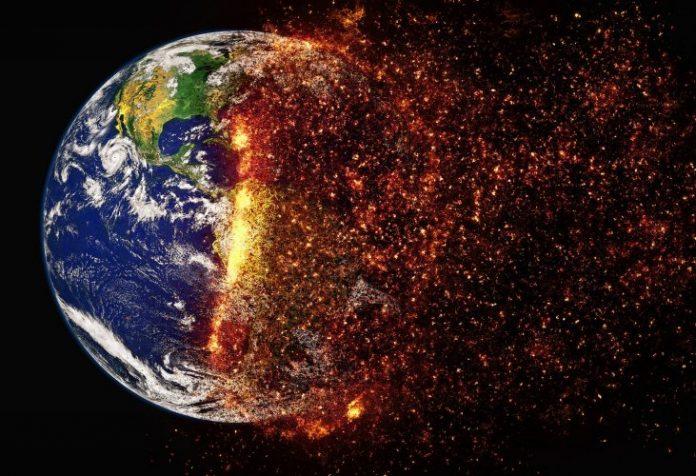 La planète Terre fait face à une urgence climatique (détail)