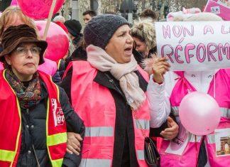 Les nounous en grève le 19 novembre (détail)