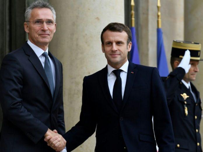 Macron reçoit le patron de l'Otan Jens Stoltenberg (détail)