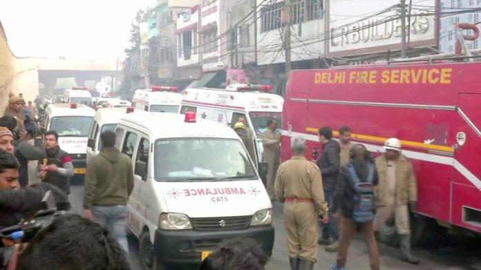 Incendie d'une usine de New Delhi fait au moins 32 (détail)