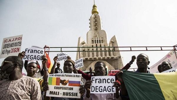 Mali: manifestation contre la présence militaire française (détail)