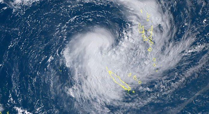 La Nouvelle-Calédonie en pré-alerte cyclonique (détail)