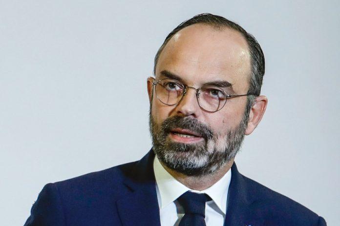 La permanence d'Édouard Philippe taguée au Havre (détail)