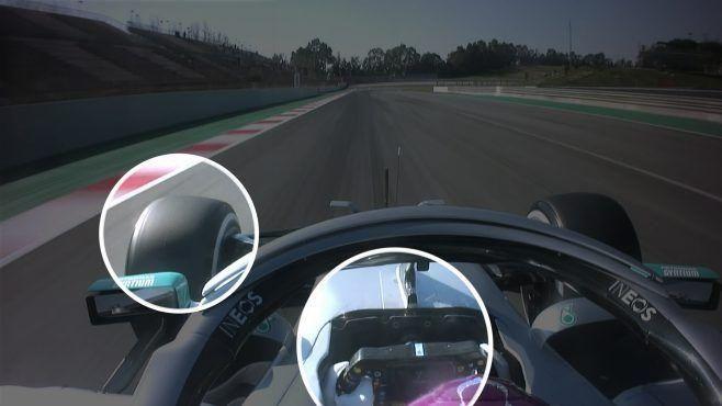 Mercedes fait sensation et polémique avec son volant (détail)