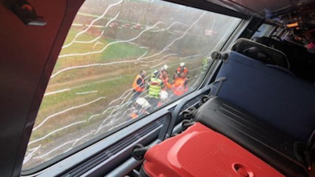 Un TGV Strasbourg-Paris déraille, le conducteur blessé (détail)