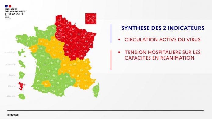 Coronavirus France EN DIRECT : Nouvelle carte des départements pour le déconfinement
