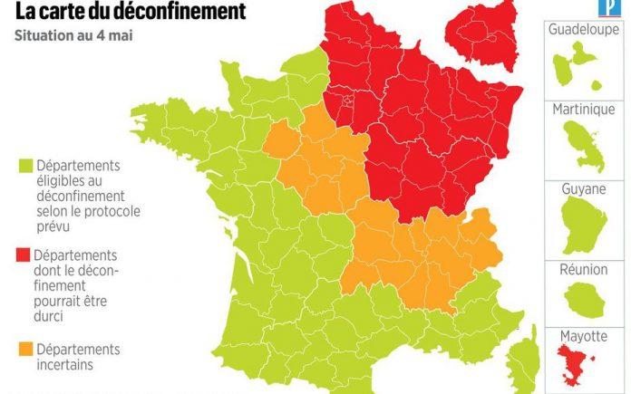 Coronavirus France EN DIRECT : Voici la carte du déconfinement du lundi 4 mai