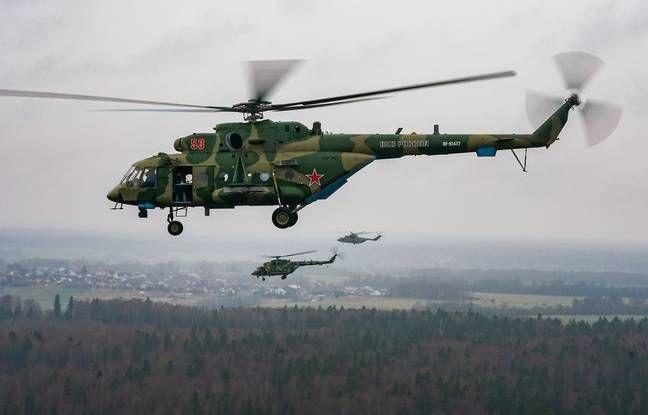 Crash d'un hélicoptère militaire près de Moscou (détail)