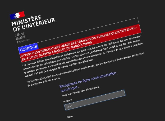 Déconfinement en France : l'auto-attestation numérique pour les transports en commun est disponible