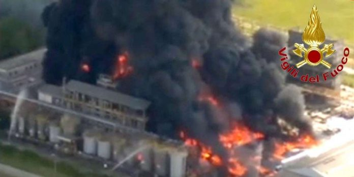 Venise : Explosion dans une usine chimique, les habitants priés de ne pas sortir (détail)