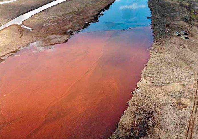 Une grave pollution au carburant en Arctique (détail)
