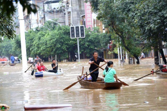 A Wuhan, après le coronavirus, place aux inondations (détail)