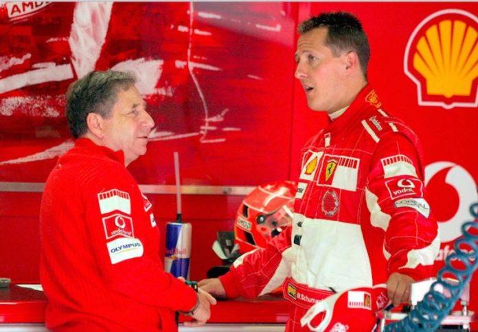 Jean Todt a rendu visite à Michael Schumacher (détail)