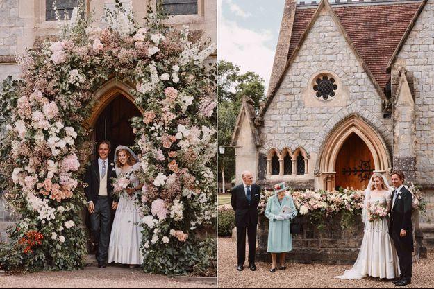 Mariage de Beatrice : la princesse pose aux côtés d'Elizabeth II et du prince Philip