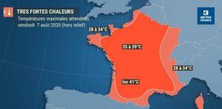Canicule en France : Jusqu'à 40 degrés à l'ombre (détail)