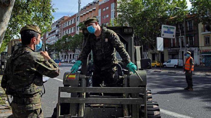 En Espagne, l'armée se mobilise contre le coronavirus