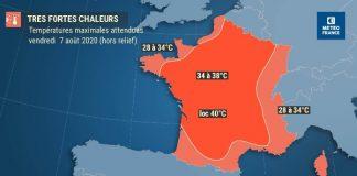 Nouvelle vague de chaleur en fin de semaine (détail)