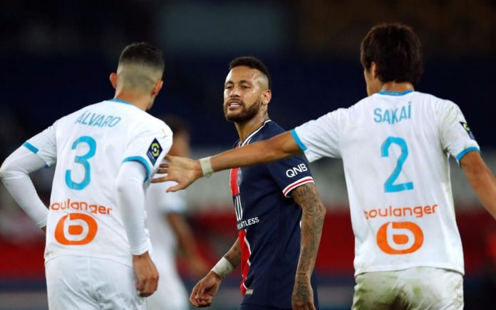 PSG-OM : expulsé, Neymar accuse Alvaro de racisme (détail)