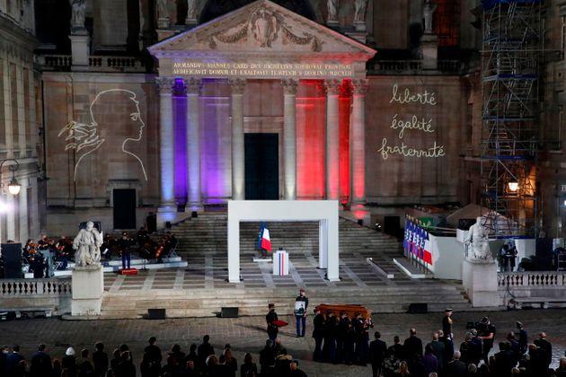 À la Sorbonne, l'hommage national à Samuel Paty (détail)