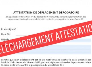 Attestation Confinement : télécharger l'attestation de déplacement